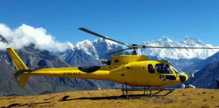 Mount Everest Base Camp landing Helicopter Tour