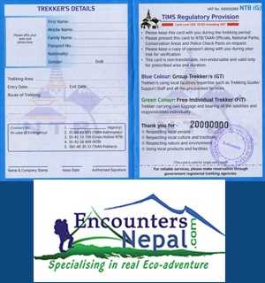 Nepal Trekking Permit and TIMS